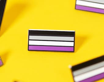 The Asexual Flag Enamel Pin