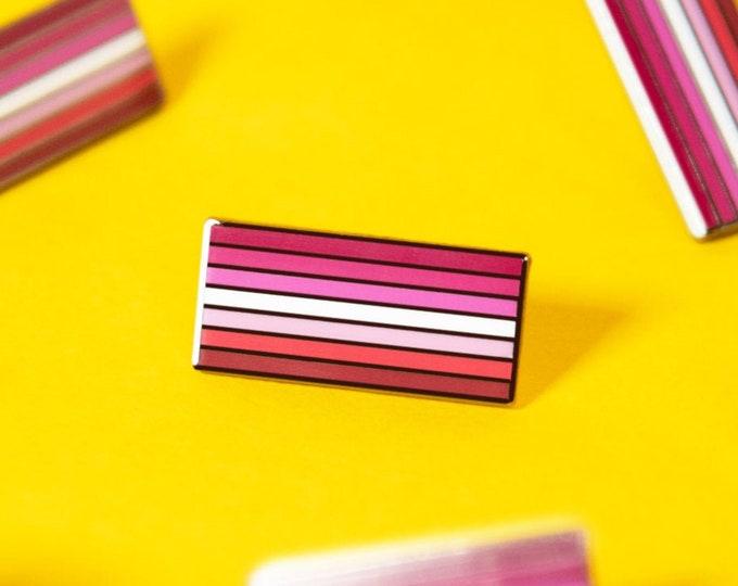 The Lesbian Flag Enamel Pin