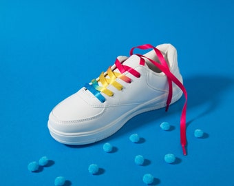 Pansexual Pride Shoelaces
