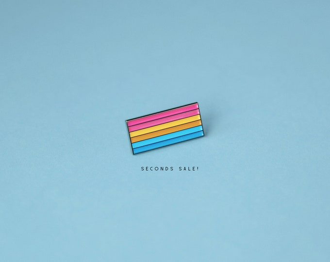 SECONDS SALE: The Pansexual Flag Enamel Pin