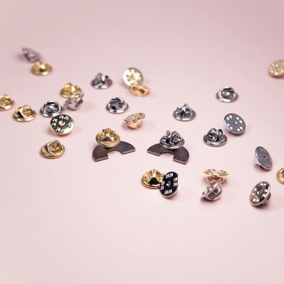 10 x Spare Replacement Butterfly Fastener Clasps for Pin Badges