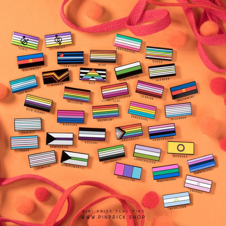 Queer Pride Flag Pin \u2014 LGBT Rainbow Enamel Badge Gay Questioning Lapel Print Equality Sticker Banner LGBT Lesbian Bisexual Trans