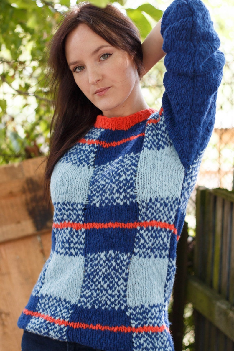 itch free pull Hand knit sweater cozy merino sweater women/'s sweater lightweight worm soft pullover chunky knit