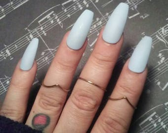 Blue Nails Etsy