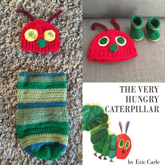 The Very Hungry Caterpillar Crochet Baby Outfit Photoshoot Etsy