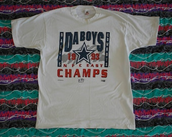 90s Dallas Cowboys Da Boys 93 NFC East Champs T Shirt Size XL Single Stitch  NFL Pro Football Aikman Smith Super Bowl- Sale - Vintage 340978b1d