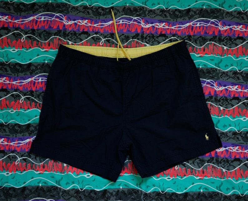 a1b285bd75 Vintage Polo Sport Ralph Lauren Swim Trunks Size L Yellow Pony | Etsy