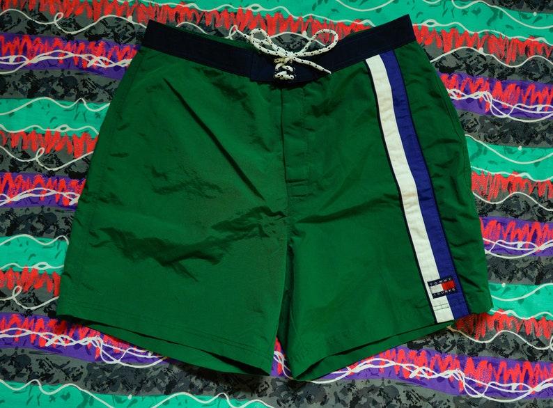 e1641212dd Vintage Tommy Hilfiger Trunks Size XL Stripes Big Flag | Etsy
