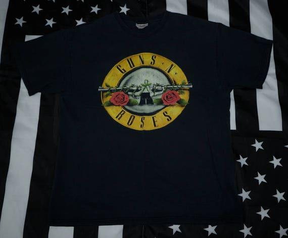 Vintage Guns N Roses Logo T Shirt Size L Rock N Ro