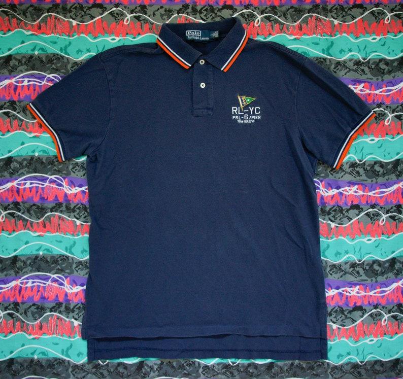 cd265d22c1 Vintage Polo Ralph Lauren Yacht Club Custom Fit Shirt Size L | Etsy