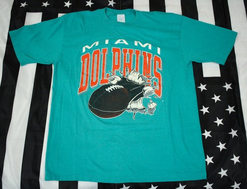 a01d57b4 Vintage Miami Dolphins NFL T Shirt Size XL Artex AFC Dan | Etsy