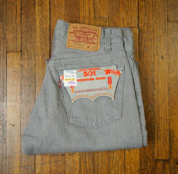 Vintage Levi's 501 Preshrunk Jeans Size 29x32 1984