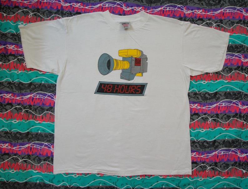 Vintage T Shirt CBS News 48 Hours TV Show Size XL Single Stitch Network  News 90s