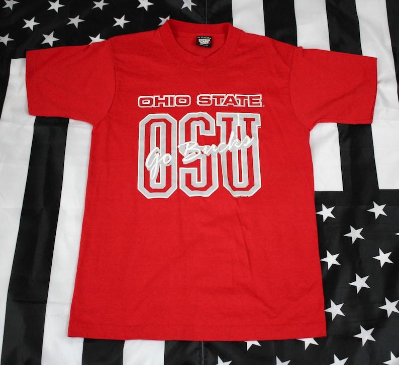 c37108da532 80s Ohio State OSU Go Bucks t shirt Size M XS S Screen Stars
