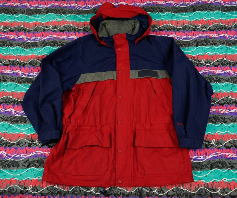 90s EBTek Eddie Bauer Gore-Tex Jacket with Pack-able Hood Size XL ... 94206796fabb