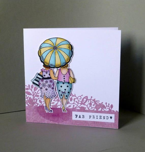 Handmade Birthday Card Friendship Best Friend