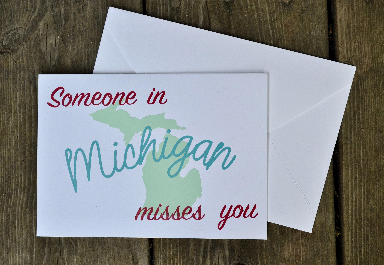 Retro michigan greeting card michigan cards someone in etsy zoom m4hsunfo