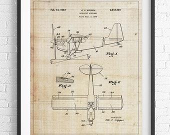 Airplane Patent Print, Blueprint Poster, Airplane Art, Airplane Decor, Aviation Gifts, Aviation Art, Aviation Decor, Plane Art, Wall Art