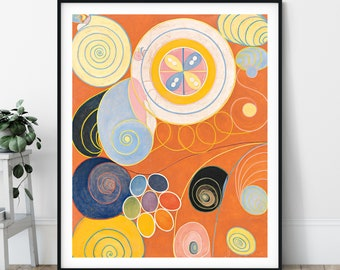They Tens Mainstay IV Print - The Ten Largest No 3 Youth, Hilma af Klint Abstract Painting, Geometric Wall Art, Colorful Art, Modern Art