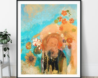 Evocation of Roussel Print - Odilon Redon, Symbolist Art, Expressionism, Unique Wall Decor, Eclectic, Weird, Modern Art Poster, Pre Surreal