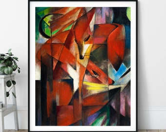 20th Century - The Fox Print - Expressionism, Modern Art, Expressionist Painting, Cubism Art, Geometric Painting, Abstract Animal Print
