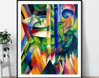 20th Century The Little Mountain Goats Print - Expressionism, Modern Art, Expressionist Painting, Eclectic Art, Quirky Painting, Abstract