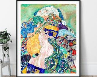 Baby Print - 20th Century Painting, Eclectic Art, Modern Art Nouveau, European Art, Strange Wall Art, Gustav Klimt, Colorful Art, Bright