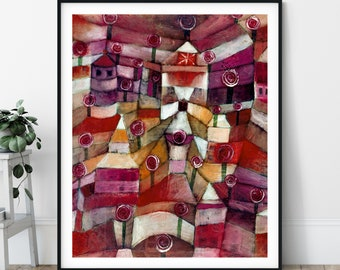 Rose Garden Print - Paul Klee, Cubism Wall Art, Expressionism Wall Decor, Modern Art Poster, Abstract Painting, Geometric Wall Art, Gift