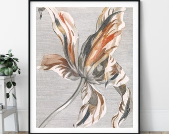Tulip Print - Vintage Flower Painting, Antique Floral Wall Art, 17th Century Painting, Tulip Wall Decor, Bathroom, Kitchen, Feminine Neutral