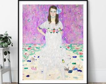 Mäda Primavesi Print - 20th Century Painting, Eclectic Art, Modern Art Nouveau, European Art, Gustav Klimt, Colorful Art, Feminine Wall Art