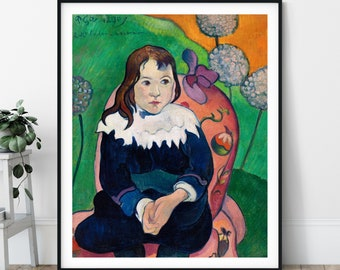 Mr. Loulou Print - Louis Le Ray Portrait Painting, Paul Gauguin, Symbolist, Post Impressionist Poster, Colorful Eclectic Strange Art, Gift
