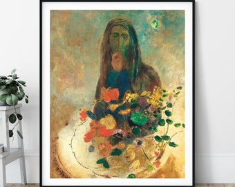 Mystery Print - Odilon Redon, Symbolist Art, Expressionism Wall Art, People Painting, Unique Wall Decor, Eclectic, 20th Century, 1900s Art