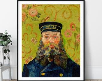 The Postman Print - Joseph Roulin, Vincent Van Gogh Poster, Antique Wall Art, Vintage Portrait, Post Impressionist Painting, Artist Gift