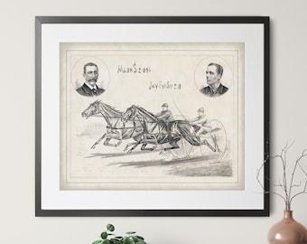 1884 Antique Jockey Print - Vintage Horse Art, Horse Gifts, Equestrian Decor, Horse Print, Horse Racing Art, Horse Wall Art,