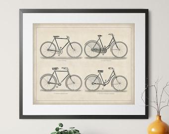 1894 Antique Bicycle Print - Vintage Bike Art, Bike Print, Bicycle Art, Bicycle Gifts, Bicycle Wall Art, Cycling Art, Cycling Gifts, Cyclist