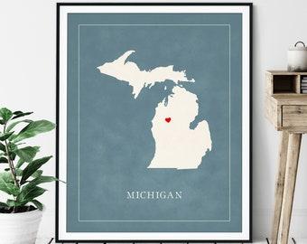Customizable Map Prints