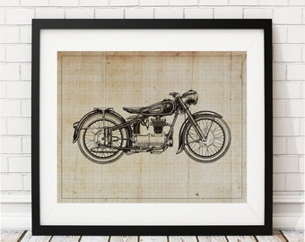 Motorcycle Art Print - Motorcycle Art, Motorcycle Gifts, Motorcycle Print, Motorcycle Poster, Biker, BMW Art, Gifts for Him, Gifts for Men