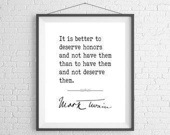 Mark Twain Quote Print, Quote Art, Quote Poster, Inspirational Wall Art, Inspirational Quote, Inspiring Quotes, Typography Art, Life Quotes
