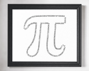 Math Art Print - Math Teacher Gift, Math Gift, Math Poster, Math Art, Pi Art, Classroom Decor, Mathematics, Math Print, Math Geek, Pi Print