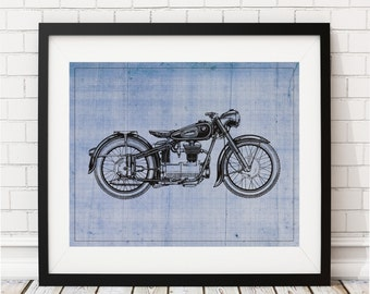 Motorcycle Art Print - Motorcycle Art, Motorcycle Gifts, Motorcycle Print, Motorcycle Poster, Biker Wall Art, Gifts for Him, Gifts for Men