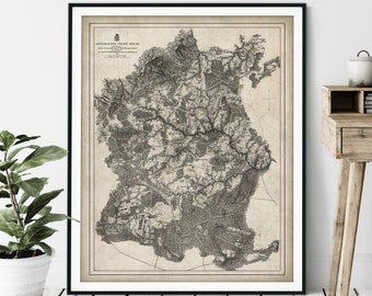 1867 Appomattox Court House Map Print - Vintage Civil War Battle Map Art, American History Gift, Antique Map Wall Art, Old Map Poster