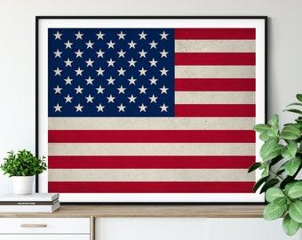 United States Flag, American Flag, United States of America Flag, Flag Art, Flag Print, US, USA, Patriotic Decor, Military Gifts, Christmas