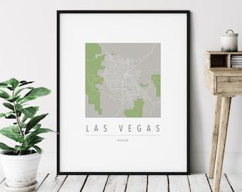 Las Vegas NV Map Print - Modern Las Vegas Art, Minimalist Las Vegas Print, Las Vegas Gifts, Las Vegas Nevada Wall Art, Hometown City Map