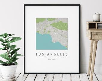 Los Angeles CA Map Print - Modern Los Angeles Art, Minimalist Los Angeles Print, Los Angeles Gifts, Los Angeles California Wall Art, LA Map