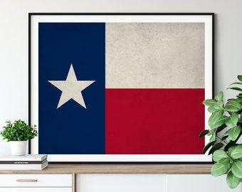 Texas Flag Art, Texas Flag Print, Flag Poster, State Flag, Texas Art, Texan Gifts, Texas Print, Texas Wall Art, Texas Poster, Texas Painting