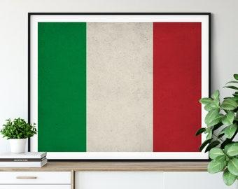 Italy Flag Art, Italy Flag Print, Italy Flag Poster, Flag Painting, Italia Print, Italy Poster, Italy Wall Art, Italian Flag, Italy Gift