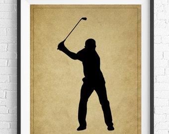 Golf Art, Golf Gifts for Men, Golf Decor, Golf Print, Gift for Golfers, Office Wall Art, Man Cave Art, Sports Wall Decor, Gifts for Him, Men