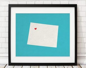 Custom Wyoming State Art, Customized State Map Art, Personalized Gift, Wyoming Art, Heart Map, Wyoming Map, Love Map Print, Wyoming Print