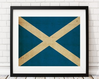 Scotland Flag Art, Scotland Flag Print, Flag Poster, Country Flags, Painting, Scottish Flag, Scottish Gifts, Scotland Print, Scotland Art