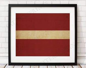 Latvia Flag Print, Latvia Flag Art, Latvia Gifts, Flag Poster, Moving Gift, Vintage Flag Wall Art, Latvian Art, Latvian Flag, Latvia Art